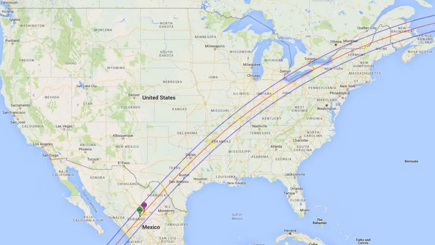 2024 Solar Eclipse Path