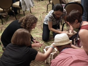 The 2015 Public Libraries & STEM conference was the first of its kind for bringing professionals from the library and STEM professions together. Here, participants engaged in hands-on teamwork with Keva planks.