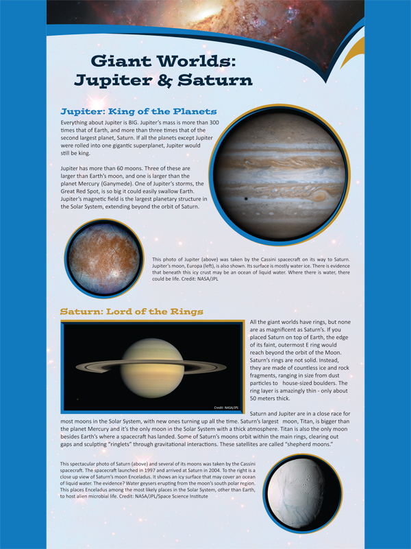The Solar System Space Universe Planet Science Education Poster Print 27 C2290