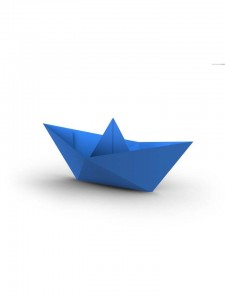 Origami boat image