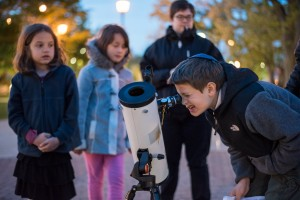 Families take a closer look at Jupiter and its moons during Stargazer Nights.