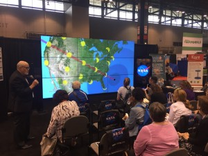 Dr. Dusenbery shows the path of the 2017 Eclipse on NASA's Hyperwall