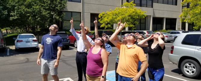 STAR_Net team members observing the Sun