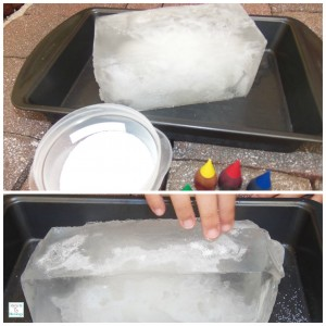 Ice block with salt