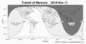 Mercury Transit Map