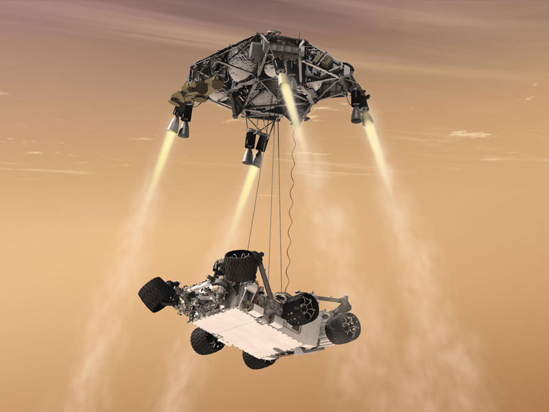 Rover Landing Artist Concept Drawing