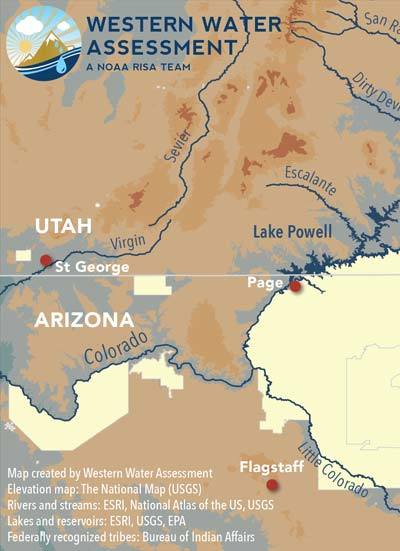 Western Water Assessment Map