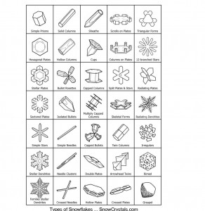 Types of Snow Crystals Chart