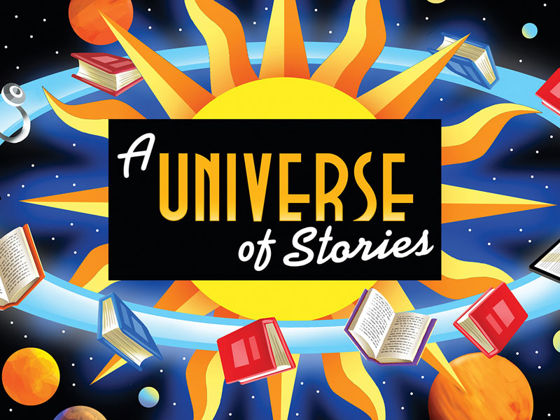 Image result for a universe of stories clipart