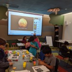 Participants working on their creations